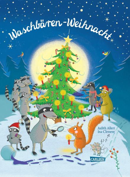 Waschbären-Weihnacht