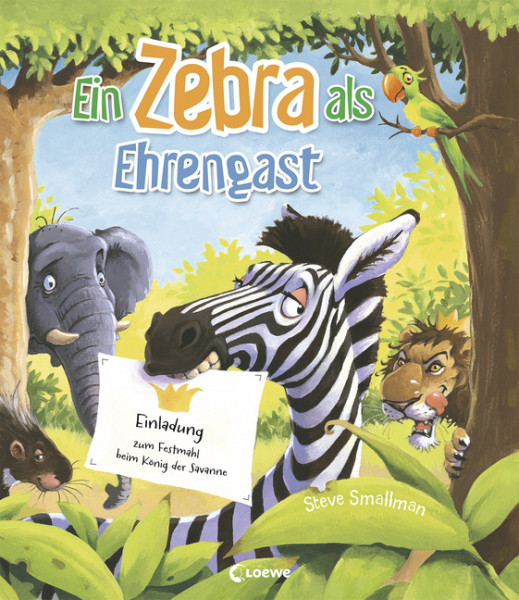 Ein Zebra als Ehrengast